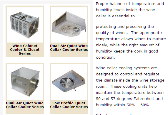 Wine Cellar Cooling Units from US Cellar Systems