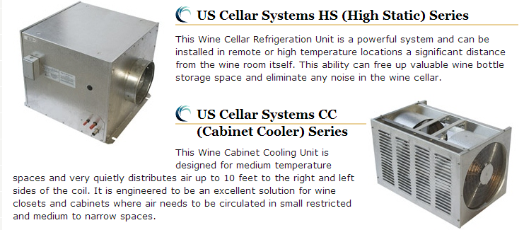 US Cellars' Wine Cellar Refrigeration Systems