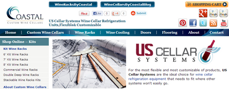 Coastal Custom Wine Cellar Company Partners with US Cellar Systems